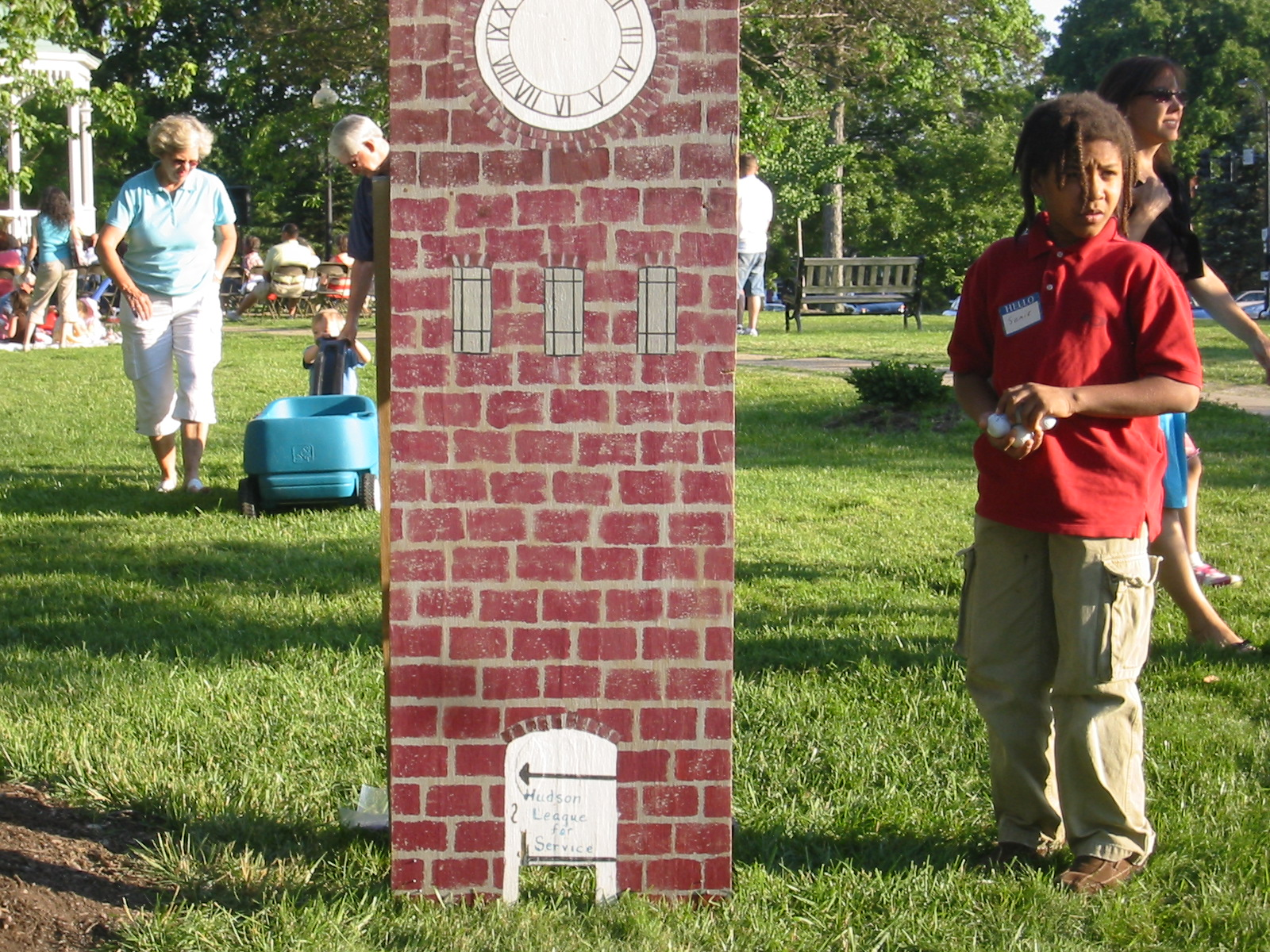 Kids of all ages enjoy Clock Tower Golf and other games at the Ice Cream Social.